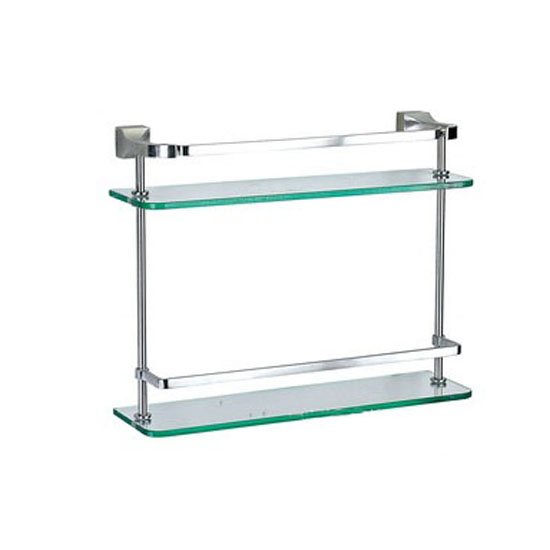 dual glass shelves