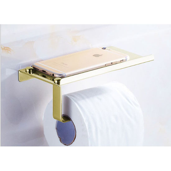 toilet roll holder with shelf